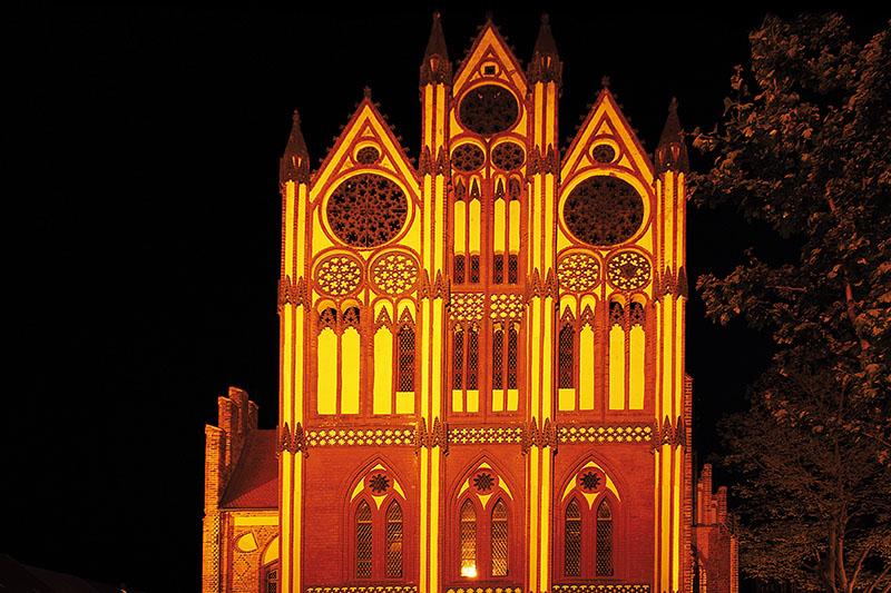 Gotischer Rathausgiebel in Tangermünde