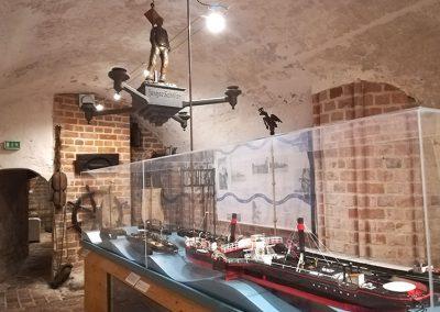 Schiffsmodel im Stadtgeschichtlichen Museum
